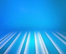 发光的条纹的蓝色的舞台背景