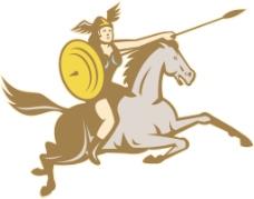 瓦尔基里亚马逊战士的骑手