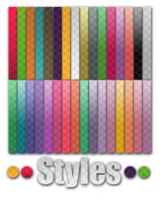 渐变颜色透明图层样式素材