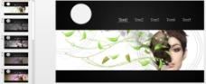 超酷动态图片切换效果PPT模板