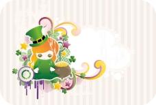 绿帽子的小女孩