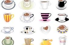创意咖啡杯设计矢量素材