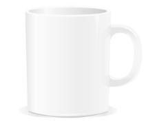 纹理的白色陶瓷咖啡杯矢量素材