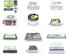 多媒体和计算机硬件矢量图标包