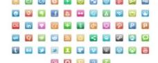 120 moskis宝石的社会媒体包PNG