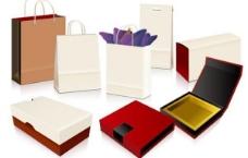 矢量的禮品袋和盒系列