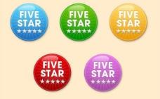 5輪亮星徽章矢量集