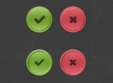 检查和十字形界面按钮设置PSD