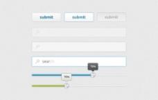 干净时尚的Web UI元素盒PSD