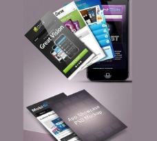 4个应用程序的屏幕展示模型集PSD