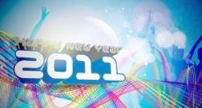 2011新年快乐新年背景模板