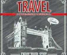 复古风格的旅行海报设计矢量图02
