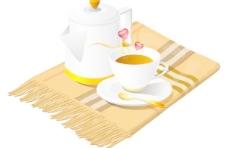 咖啡混合向量