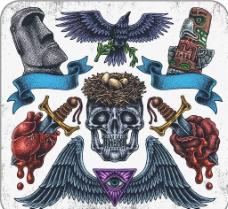 美式纹身图案图片