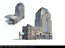欧式风格商品楼建筑模型