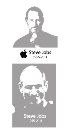 史蒂夫乔布斯工作黑白矢量素材