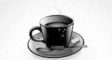 黑咖啡杯矢量