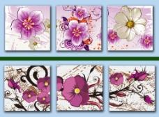 花卉无框画图片下载