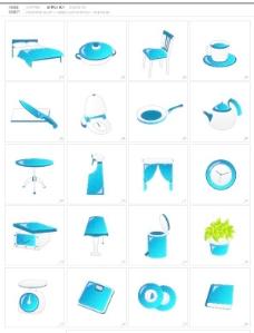 厨房和家居物品矢量图标