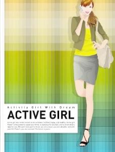 韩国女性海报矢量图14