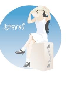 韓國白領女性矢量圖05