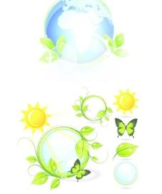 清爽地球樹葉素材