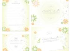 可爱的鲜花装饰用品和纸板矢量素材