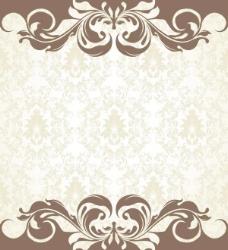 欧式花纹背景矢量素材06