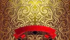 华丽欧式花纹背景矢量素材