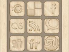 木材的社交图标