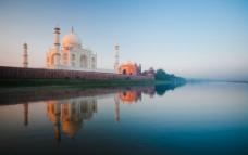 印度城市泰姬陵建筑夜景图片