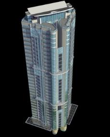 华丽唯美风格高层住宅楼3D模型素材