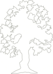 简单概述剪贴画一棵开花的树