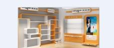电视商品展示货架