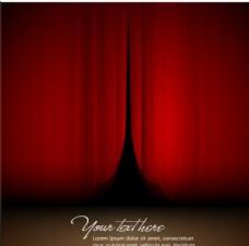 红色舞台帷幕