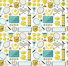 网球体育运动背景图片