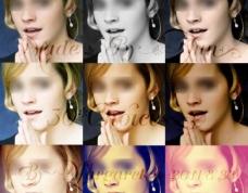 欧美特效人物照片调色动作 30个色调 图片