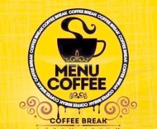 复古咖啡标志