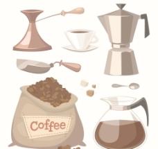 咖啡和咖啡杯
