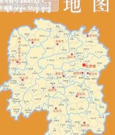 湖南地图 修定版