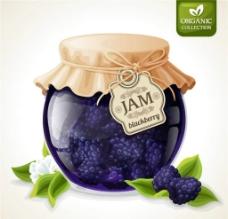 藍莓果醬圖片