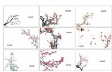 梅花名片模板素材中国图片